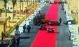 이집트 대통령 행차에 레드카펫 4km