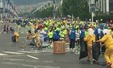 국제 마라톤 대회, 쓰레기 규모도 국제급