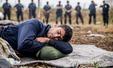 헝가리 국경 앞서 난민들 단식 농성