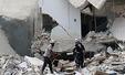 통폭탄 투하로 무너진 알레포의 건물