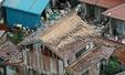 돗토리현 강진, 무너져 내린 지붕 타일