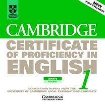 Cambridge Certificate of Proficiency in English 1: Examination Papers from University of Cambridge ESOL Examinations (CD/ 도서별매)