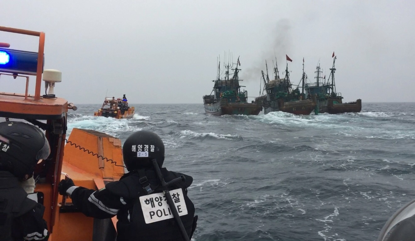 서해해경청 , 불법중국어선 3척 나포