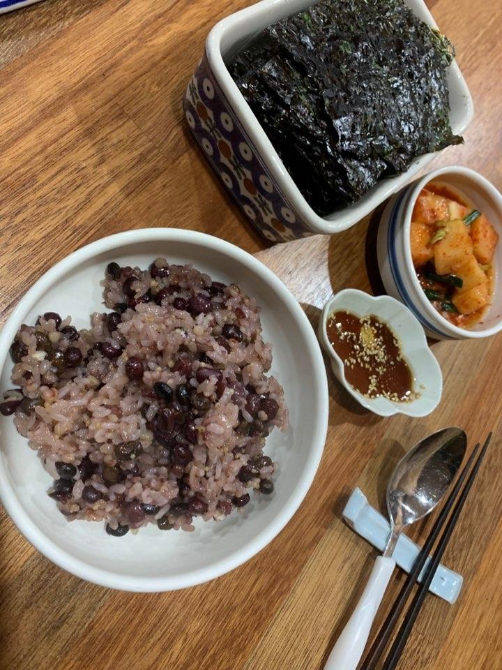 정월 대보름날 아침의 오곡밥