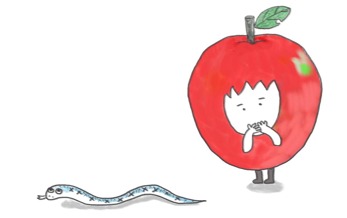 사과처럼 움직일 수 없었어 - 송현섭, <뱀에게>
