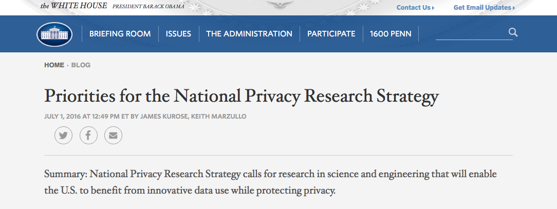Big data and Privacy - [Privacy-1] 백악관과 페...
