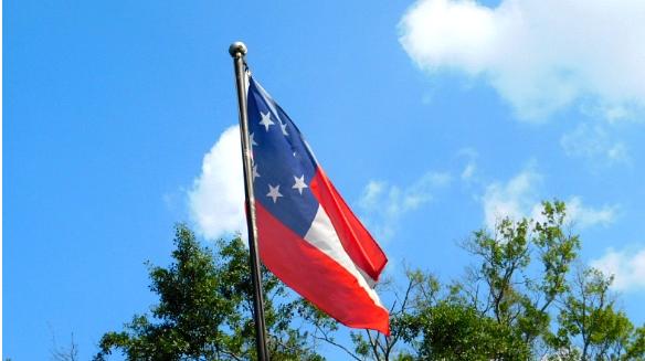 알라바마주 백악관에 휘날리는 남부동맹군 깃발.