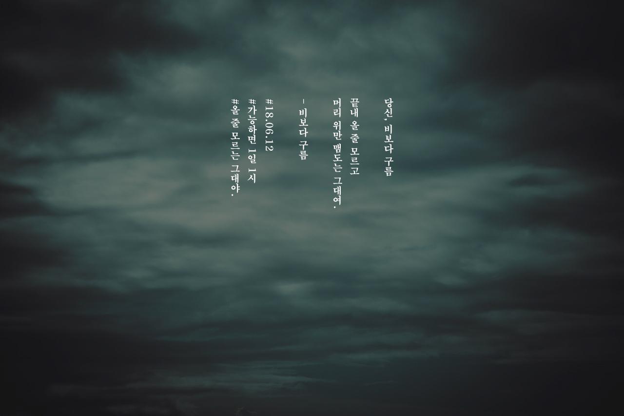 [가능하면 1일 1시] 비보다 구름 - 올 줄 모르는 ...