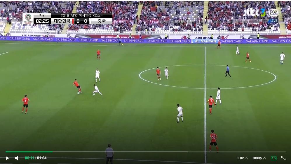 [아시안컵 간단 리뷰] 한국:중국(2:0승)