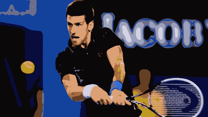 조코비치 양손 백핸드 - 2018 윔블던 테니스 우승