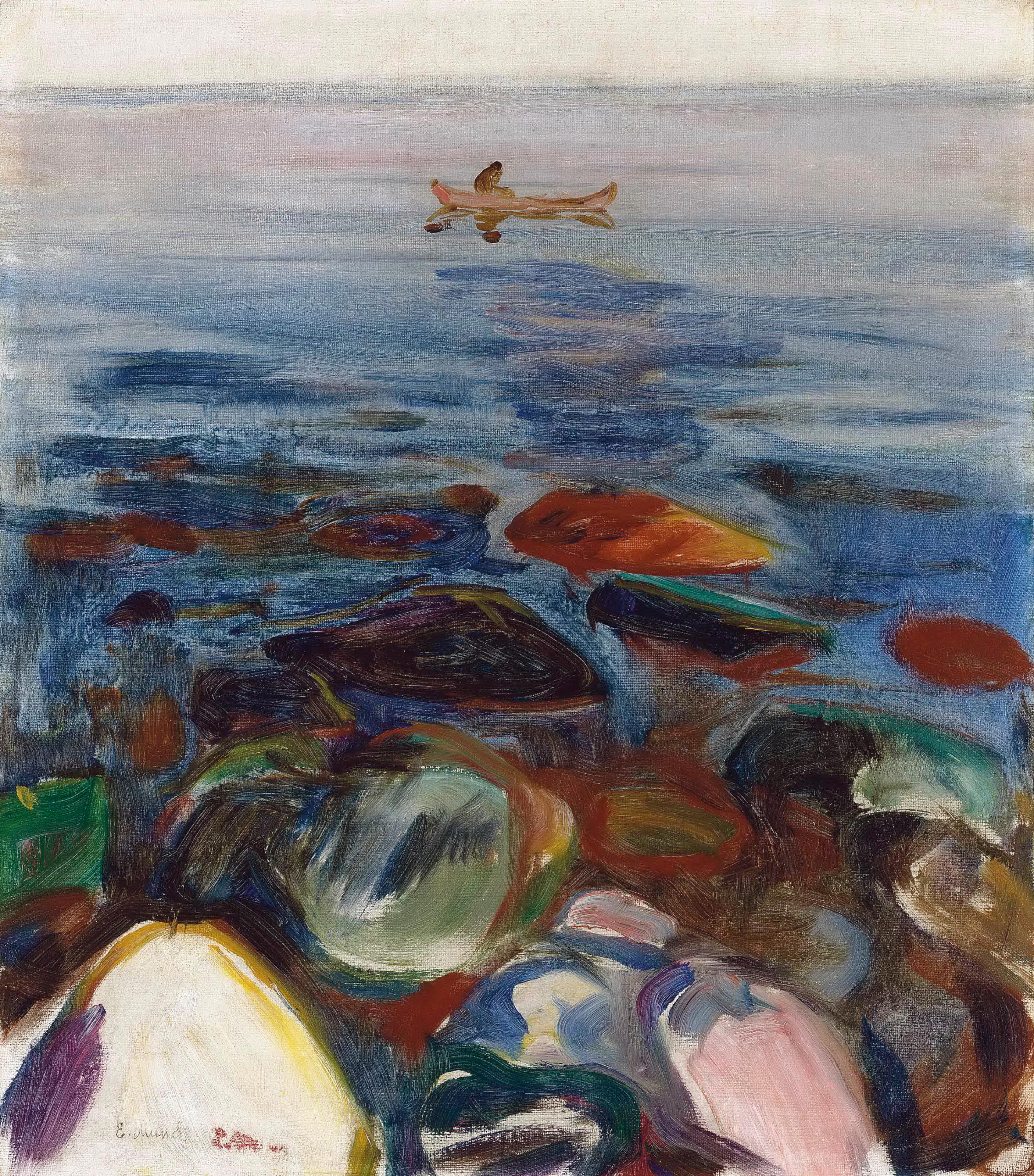 뭉크 : 바다 위의 배 - Robat pa sjøen 1904.