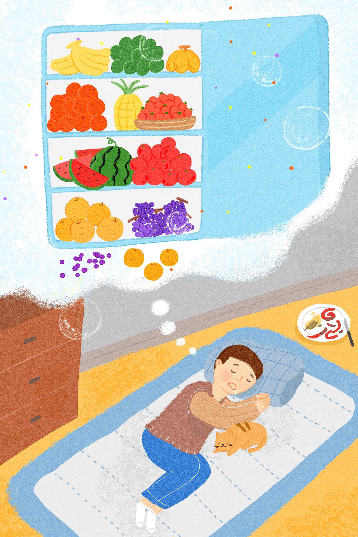 먹고 싶을 때마다 과일을 먹는 꿈 - 시장통에 버려...