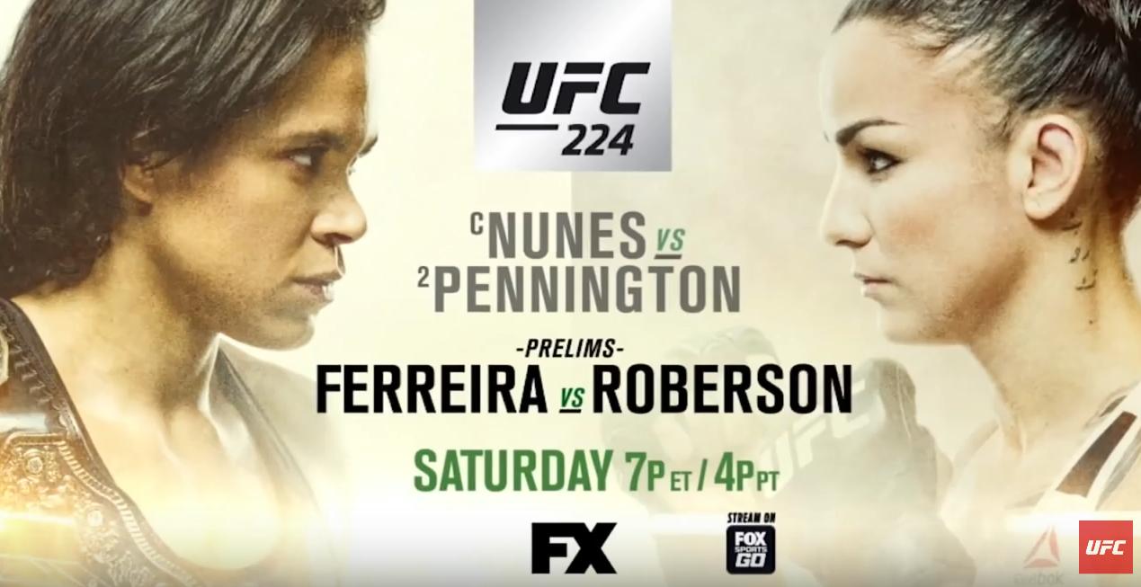 UFC 여성 밴텀급 타이틀전 - 아만다 누네스 VS 라...