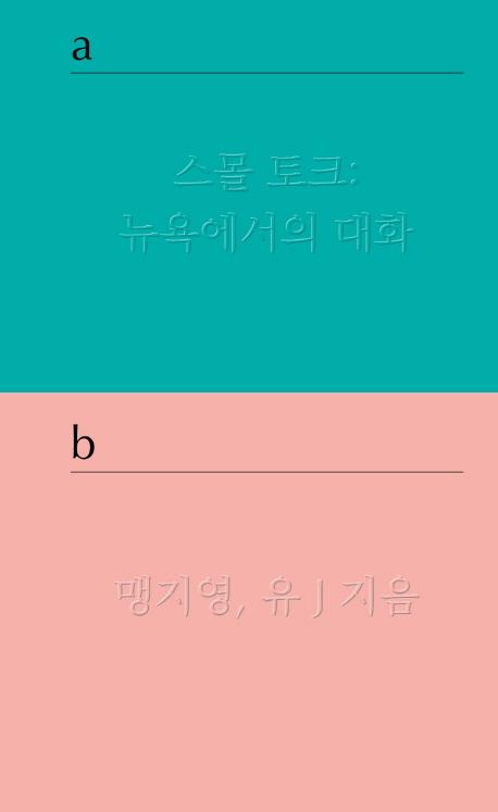 《스몰토크: 뉴욕에서의 대화》 맹지영, 유J - 큐...