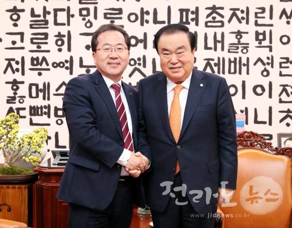 허석 순천시장, 문희상 국회의장 만나 핵심 국고지...