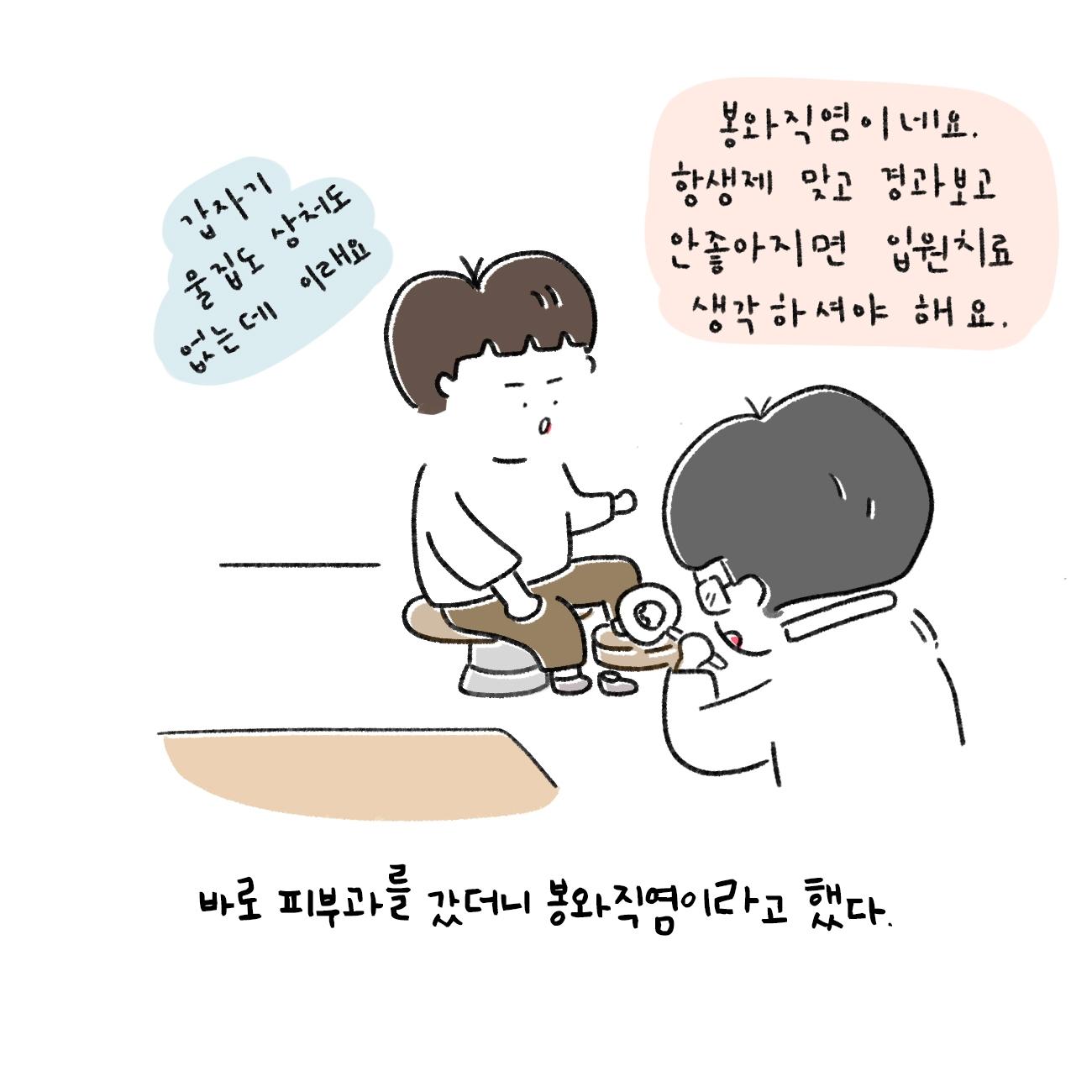 #59. 봉와직염과 항생제 - < 윤공룡 그림일기 >