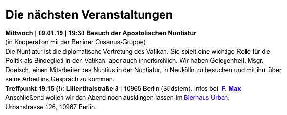 주 독일 교황청 대사관에 다녀왔다 - 베를린에 있...