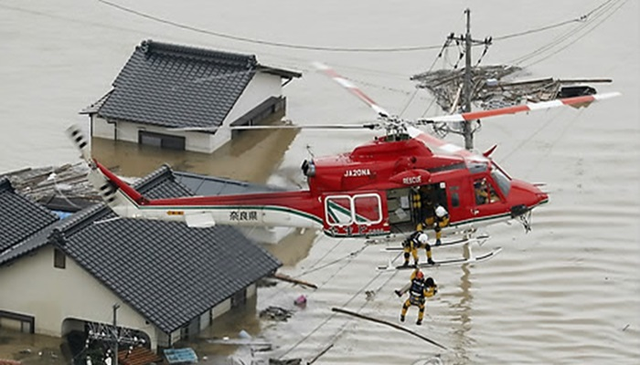 일본 폭우로 흘러나온 가스통 200개…일부 바다로 ...