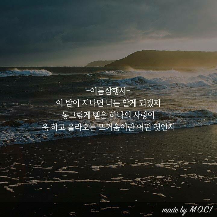 20160218. 오늘의 이름시 - 이동욱. 그대의 이름에...