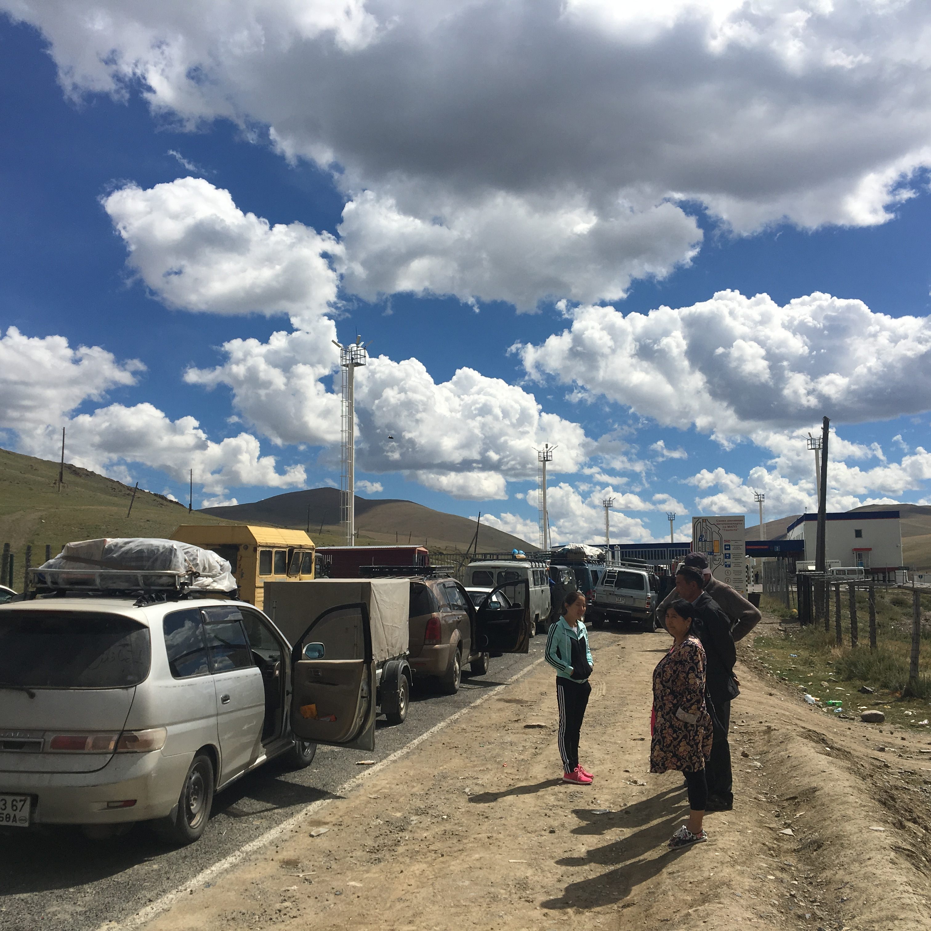몽골국경 넘기 10시간(1) - 러시아 Tashanta - 몽...