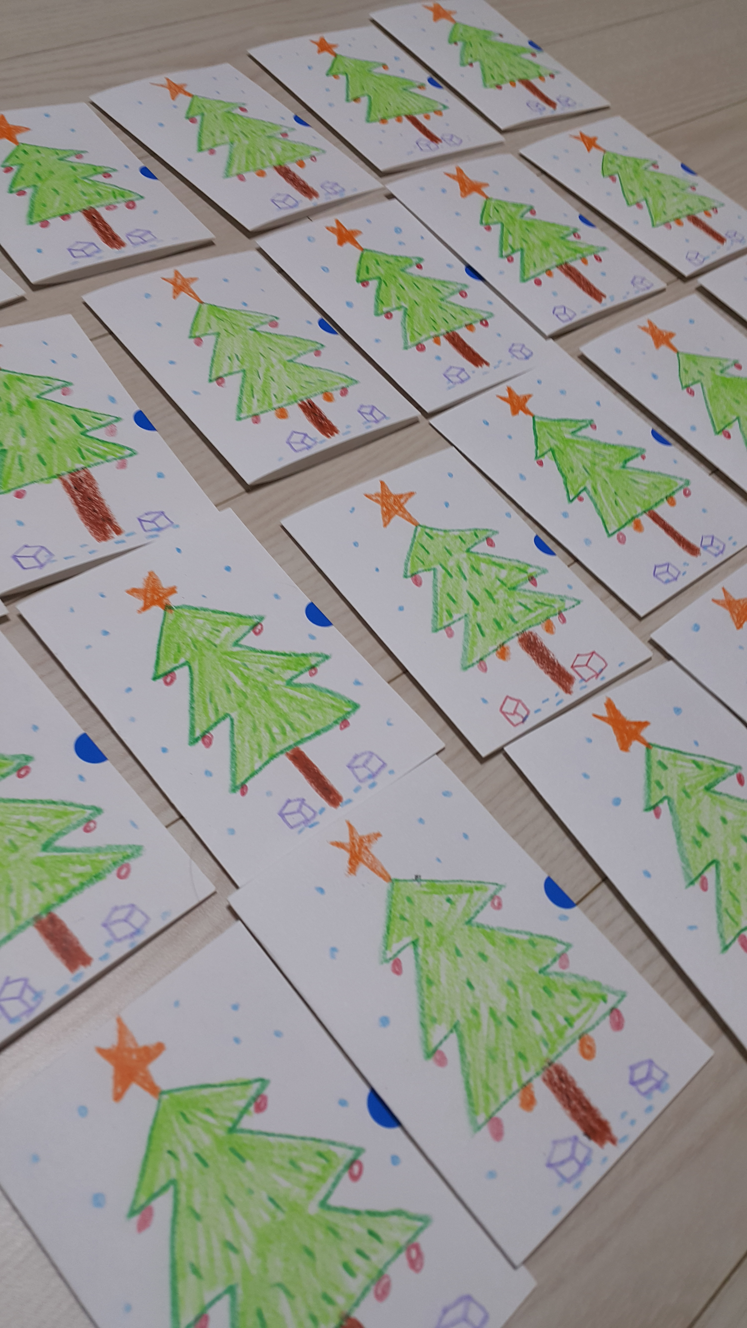 가장 많이 만든 크리스마스 카드