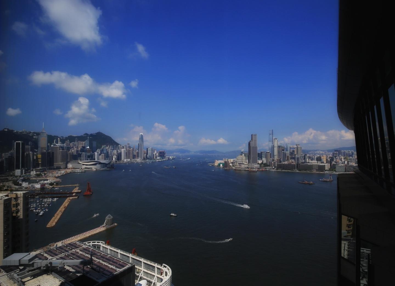 홍콩에서 맞은 태풍 '하토'