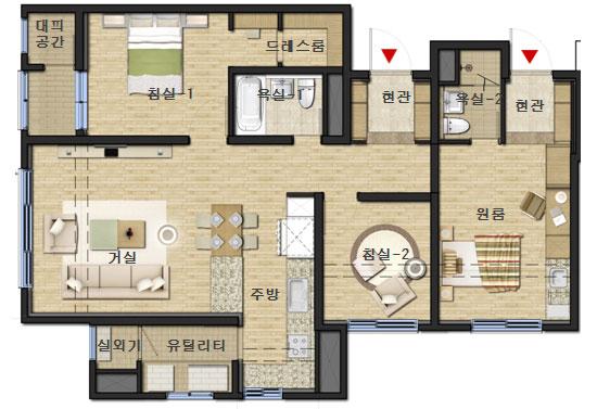LH '한지붕 두가족' 중소형 신평면 개발  Daum 부동산
