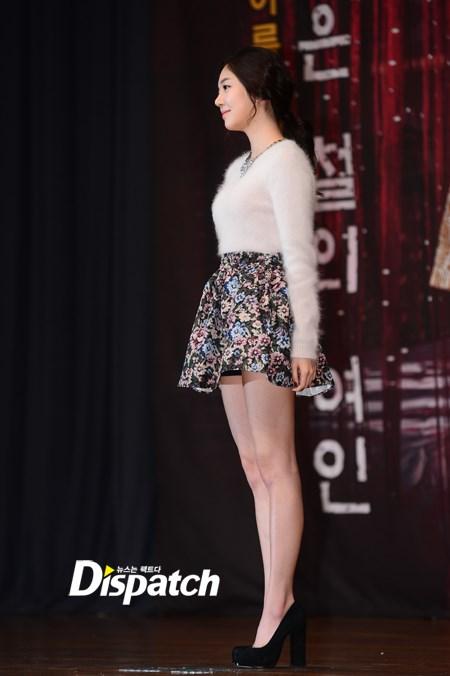 [현장포토] 치마가 짧았나?..백진희, 속바지 NG