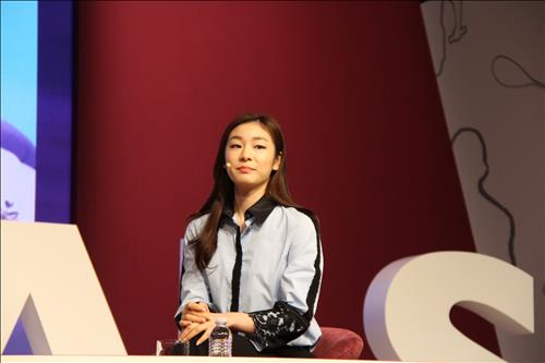 Kim Yuna Attends Special Olympics and Doha Goals Forum in Los Angeles