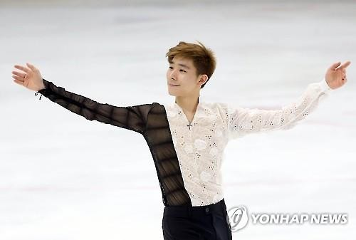 Lee June-Hyoung (Dankook University) in the Men's Singles figure skating. [Reuters file photo]