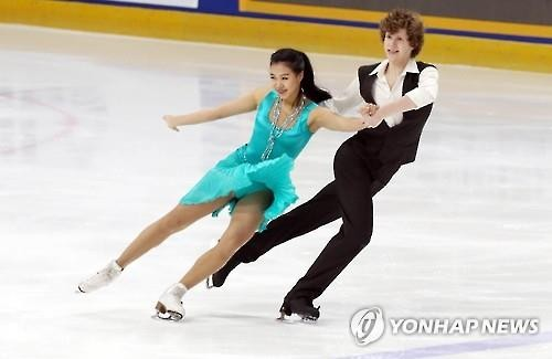 Rebecca Kim, Ice Dancing - NOF Cyrillic US [Reuters file photo]