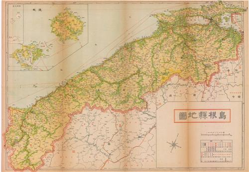 1951년 일본지도주식회사(日本地圖株式會社)가 발간한 시마네현지도(島根縣地圖)