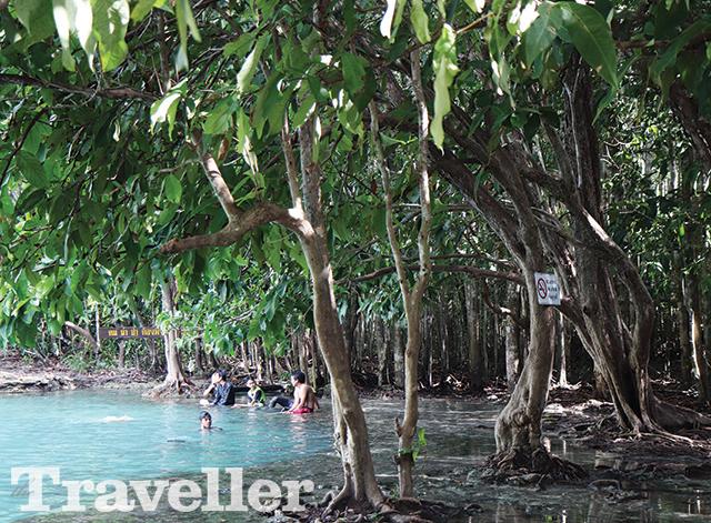 카오프라방 크람 자연보호구역에 위치한 에메랄드 호수Emerald Pool