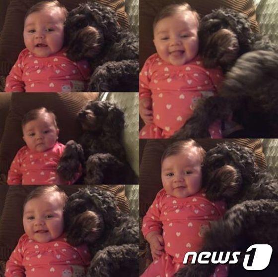 비비애나와 반려견 '폴로'. © News1