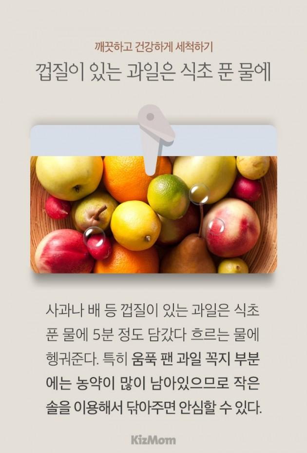 카드뉴스 - 과일•채소 그대로, 안심 세척법과 싱싱 보관법
