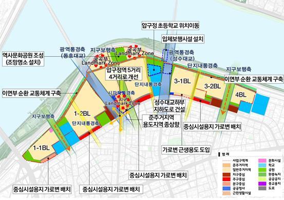 서울시가 지난 6일 발표한 '압구정 아파트지구 지구단위계획안' /자료제공=서울시