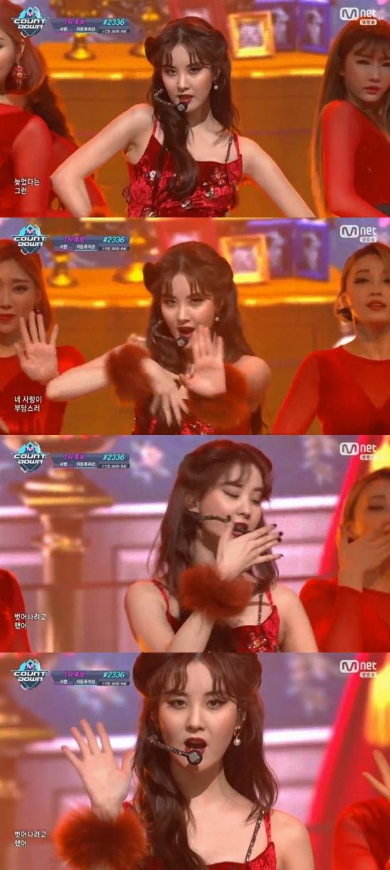 #음악 ♥ '엠카' 서현, 소시 막내의 반란..완벽 고혹미