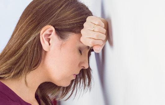 스트레스가 심한 여성