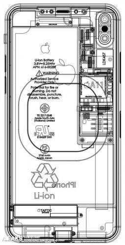 아이폰8 유출 설계도