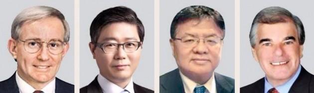 톰 머피 전 미국 피츠버그 사장(왼쪽부터), 변창흠 SH공사 사장, 켄 리 중국 ULI 대표, 로빈 웹 CCIM 협회장
