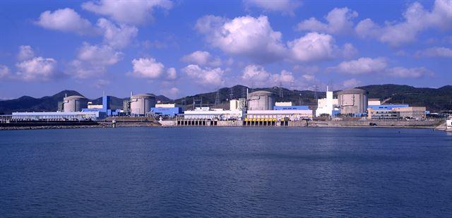 경북 경주에 있는 월성 원자력본부 전경. 오른쪽부터 차례로 1~4호기다. 한국수력원자력 제공