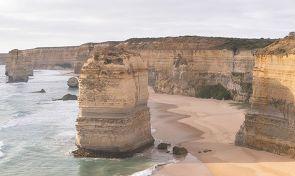 12사도상이 있는 해안 절벽의 풍경