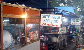 밤에만 열리는 인도네시아 먹거리 시장