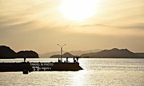 일몰이 아름다운 진해의 작은 섬