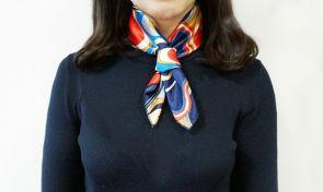 봄 코디 포인트! 스카프 예쁘고 색다르게 매기