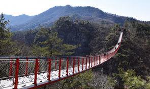 한국에서 가장 긴 출렁 다리가 있는 곳