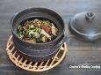 여린 새순만을 골라 만든 향긋한 별미밥~ 도라지순 홍합 버섯밥