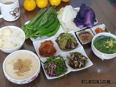 텃밭 채소로 차린 건강한 식탁