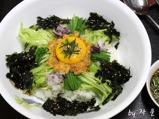 바다향이 듬뿍 <b>성게</b>알 비빔밥