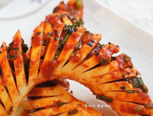 식이섬유가 풍부한 고구마 김치